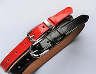 Женские кожаные узкие ремни ширина 2 см