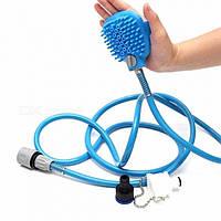 Перчатка для мойки животных SUNROZ Pet Bathing Tool щетка-душ для собак Синий SUN1503, КОД: 1369740