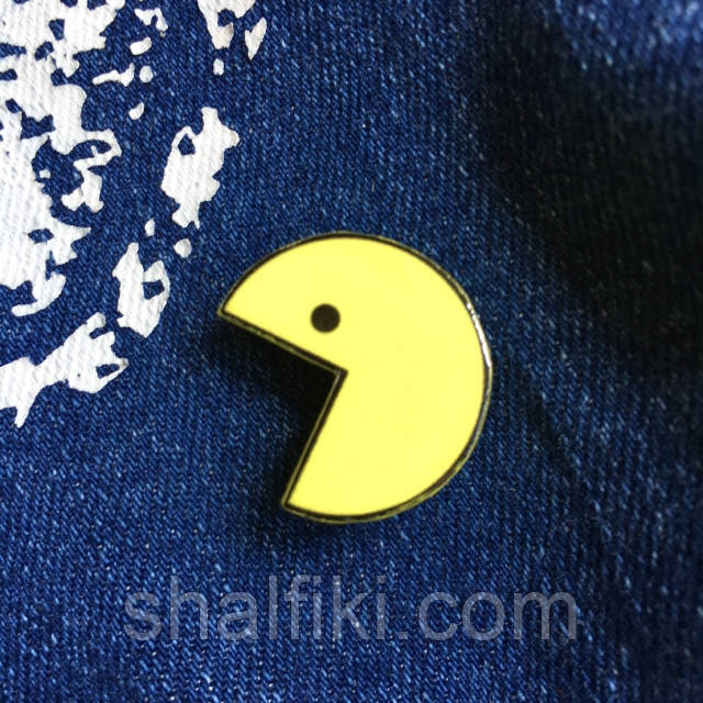 """""""Pac-Man / Пакман"""" брошь из полимерной глины"""