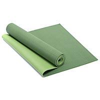 Коврик для фитнеса и йоги двухслойный SP-Planeta 1770 6мм зеленый