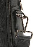 Чоловіча шкіряна сумка-портфель Armani 6619-3 чорна для ноутбука документів, фото 2