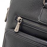Чоловіча шкіряна сумка-портфель Armani 6619-3 чорна для ноутбука документів, фото 9