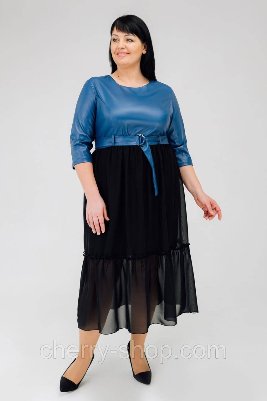 Ділове стильне плаття в двох кольорах