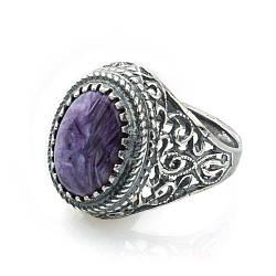 Кольцо sherl чароит мельхиор Фиолетовый кл-чрт-004 19, КОД: 1290000