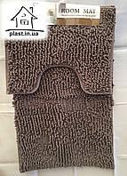 Набор ковриков для ванной комнаты Лапша 90*60 см (серый)