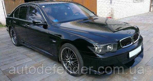 Дефлекторы окон (вставные!) ветровики BMW 7 Series Е65 2001-2008 4шт., HEKO, 11119