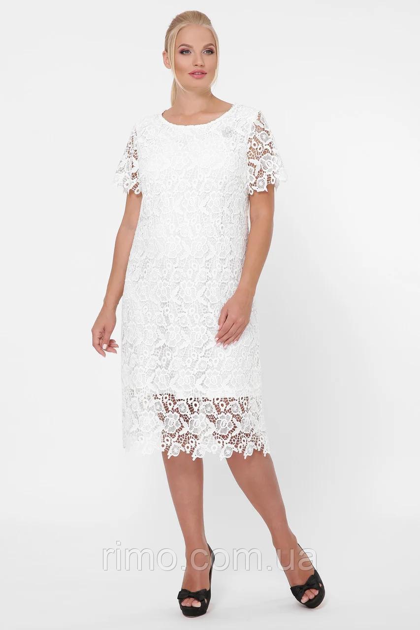 Платье большого размера Элен кружево (2 цвета)