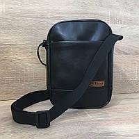 Практичная барсетка Tiger Middle, мужская сумка через плечо, удобный мессенджер, цвет черный