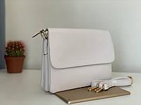 Женская белая сумочка клатч через плечо кроссбоди Pretty Woman