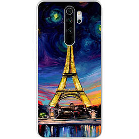 Чехол силиконовый с картинкой для Xiaomi Redmi Note 8 Pro Париж