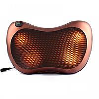 Массажная подушка Massage Pillow Car and Home с инфракрасным подогревом для всего тела Коричневый, КОД: 1484911