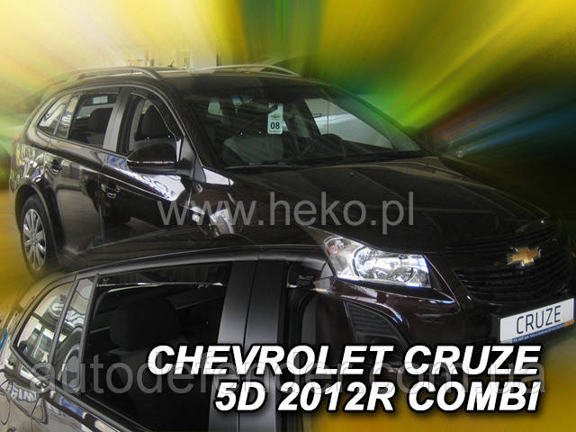 Дефлекторы окон (вставные!) ветровики Chevrolet Cruze 2011- 5D 4шт. Combi, HEKO, 10542