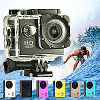 Экшн камера A7 FullHD + аквабокс + Регистратор Полный компект+крепление