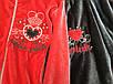 Спортивный велюровый костюм в красном цвете для девочки, фото 2