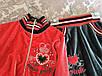 Спортивный велюровый костюм в красном цвете для девочки, фото 3