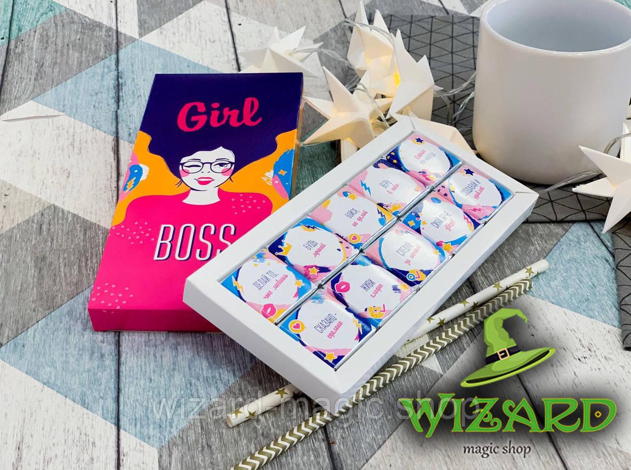 Шоколадный набор Girl Boss (10 шоколадок)