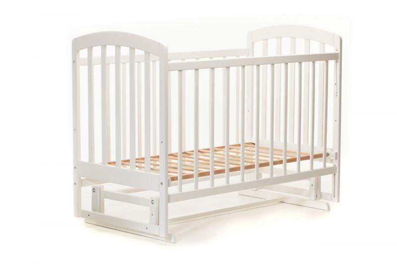 Детская кроватка « ЛАМА » маятник белая