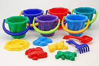 Наборы Песочный набор COLOR PLAST Ромашка 2 1104 2 Разноцветный IG-8195, КОД: 1491166
