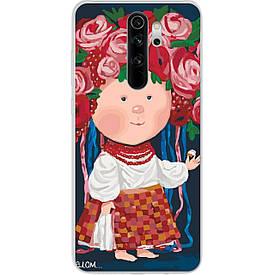 Чехол силиконовый с картинкой для Xiaomi Redmi Note 8 Pro Украиночка