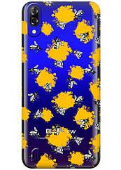 Прозрачный силиконовый чехол iSwag для Blackview A60 с рисунком - Пчелы H588, КОД: 1429049
