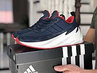 Кроссовки Мужские Весна Хит Синие в стиле Adidas Sharks