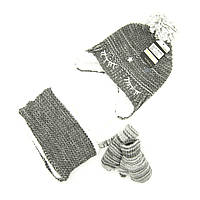 Комплект шапка, снуд, перчатки Suve 6 мес -2 года Серый TUR 007 star grey, КОД: 1469451