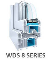 Вікна  ВДС WDS 8S мультифункиональні три контури 82мм