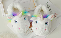 Домашние тапочки-игрушки Kronos Top Единороги размер 33-35 Белый stet1263,1, КОД: 943750