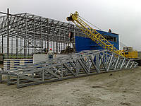 Строительство склада из ЛСТК.