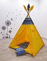 """Детский вигвам , домик, палатка для игры """" Везучий малыш """" , четырехгранный"""
