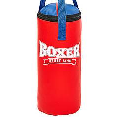 Мешок боксерский Сувенирный Кожвинил h-35см Boxer (наполнитель-древесные опилки, h-35см, d-18см, вес 5кг) PZ-1008