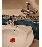 Смеситель для ванной ЛАТУННЫЙ MX MEDEA с длинным поворотным изливом 35 см, фото 2