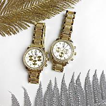 Стильні жіночі годинники з камінням на корпусі
