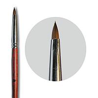 Кисть nailApex язычок 2 с деревянной ручкой для лепки гелем, акрилом 546-255178, КОД: 1372180