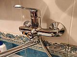 Смеситель для ванной ЛАТУННЫЙ MX MEDEA с длинным поворотным изливом 35 см, фото 3