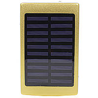 Внешний аккумулятор Power bank Solar PB-6 с солнечной панелью 6000 мАч стробоскоп Gold, КОД: 1290383