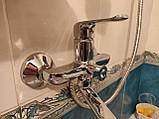 Смеситель для ванной ЛАТУННЫЙ MX MEDEA с длинным поворотным изливом 35 см, фото 4