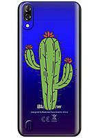 Прозрачный силиконовый чехол iSwag для Blackview A60 с рисунком - Тропический кактус H582, КОД: 1429044