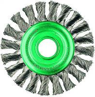 Щетка дисковая 150х22,2 мм Скрученная жгутами нержавеющая проволока 0,5 мм Z26 жгутов 474811, КОД: 1384134