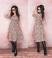 """Нежное женское платье-сарафан с пуговками ткань """"Софт"""" 42, 44, 46 размер"""