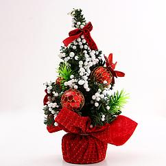 Новогоднее украшение Елка 20 см Красный hubLeHg13429, КОД: 1575546