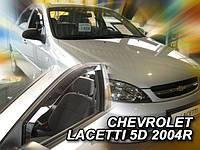Дефлекторы окон (вставные!) ветровики Chevrolet Lacetti 2004- 5D 4шт. Combi, HEKO, 10507