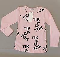 Лёгкий  реглан свитшот туника  для девочки 2, 3, 4, 5, 6лет, фото 1