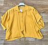 Легкая женская укороченная рубашка 42-48 (в расцветках), фото 4