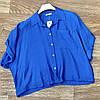 Легкая женская укороченная рубашка 42-48 (в расцветках), фото 5