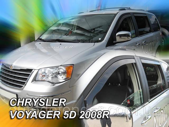 Дефлекторы окон (вставные!) ветровики Chrysler Grand Voyager 2008- 4шт., HEKO, 10413