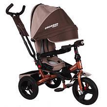 Детский трёхколёсный велосипед Crosser T-400 Trinity Коричневый