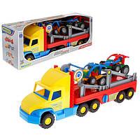 Машинка Super Truck с легковым авто Wader 36630 Разноцветный tsi18202, КОД: 317235
