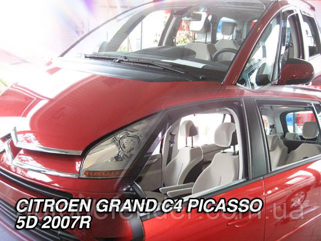 Дефлекторы окон (вставные!) ветровики Citroen C4 Grand Picasso 2006-2013 4шт., HEKO, 12237