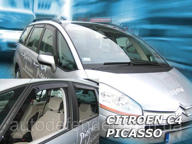 Дефлекторы окон (вставные!) ветровики Citroen C4 Picasso 2006-2013 4шт., HEKO, 12235